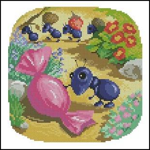 法国dmc十字绣小ag游戏直营网|平台蚂蚁和糖果欧美卡通杂志款/21款任选1