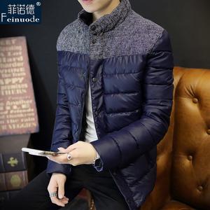 2015新款冬季棉服男士棉衣加厚外套立领韩版青少年潮修身款男装
