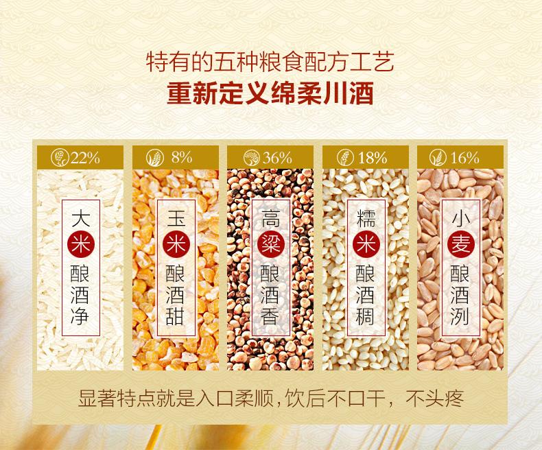 金六福 经典15 纯粮浓香型白酒 50度 475ml*6瓶 图5